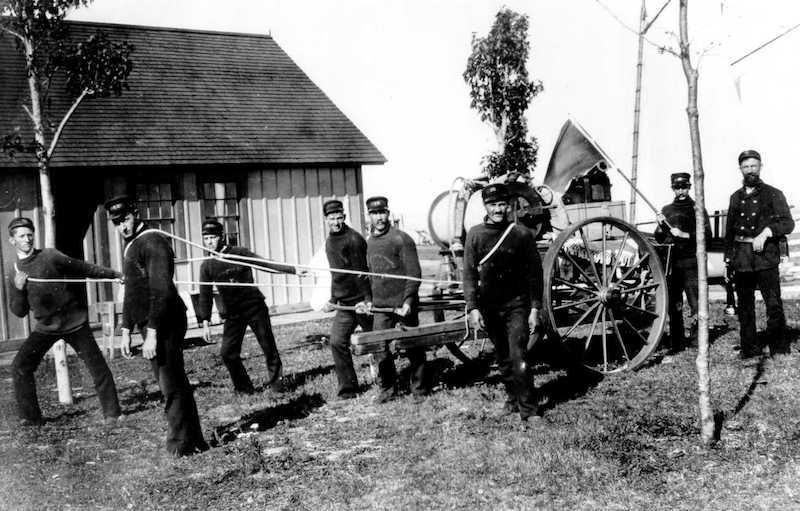 Original Photo of Life Saving Station Crew