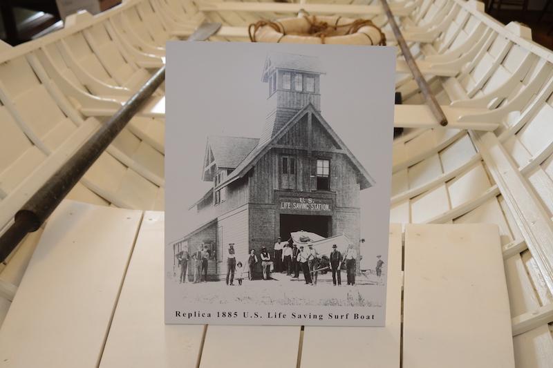 Replica 1885 Life Saving Boat and Photo