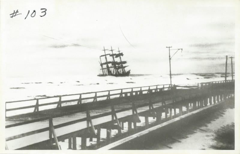 Original Photo of Ship and Boardwalk