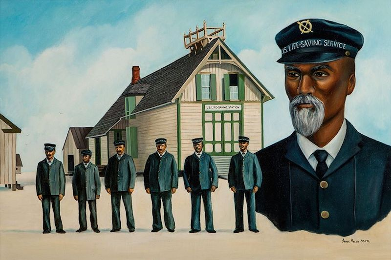 Painting of Life Saving Station Crew
